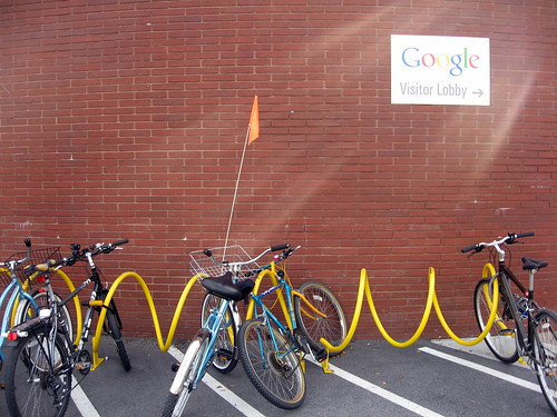 At Google, they ride bikes