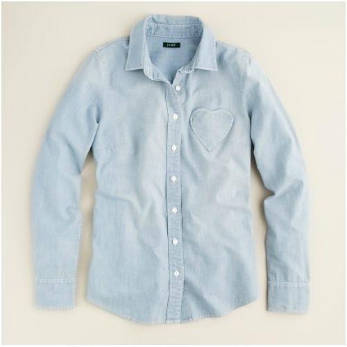 jcrew heart shirt