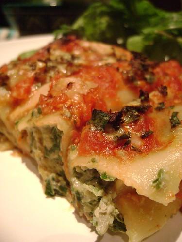 Wild Mushroom, Spinach & Ricotta Cannelloni