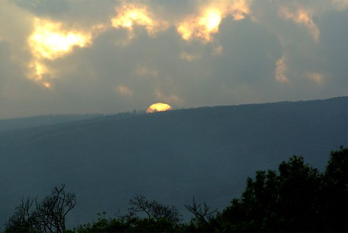 sunset on Mauna Loa