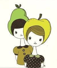 golden apple and bartlett pear