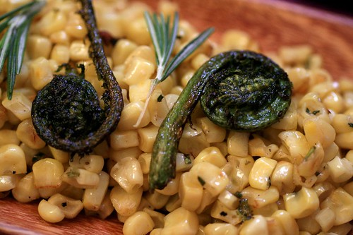 Corn and Fiddlehead