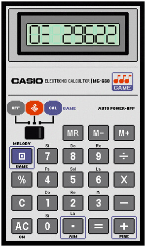 My Casio Calculator Invader Game (1/3)
