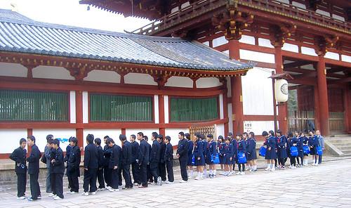 Colegiales en Nara.