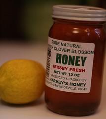 Local honey and a lemon