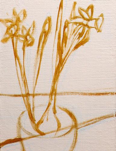 Initial drawing of Daffodill still life