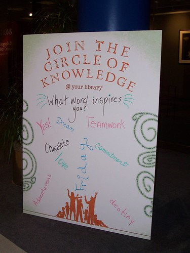 Knowledge Board at Main Library