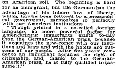 NYT article about German-American Day at the C...