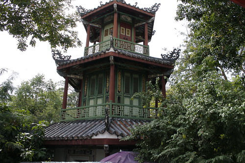 chinese pagoda in the royal garden