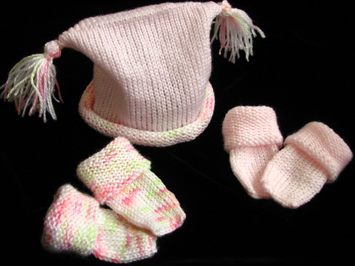 Baby Hat & Booties Set