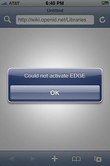 Could not activate EDGE