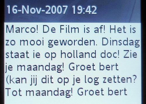 SMS van Bert: Flick Radio klaar!