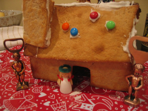 The ugliest gingerbread house ever?