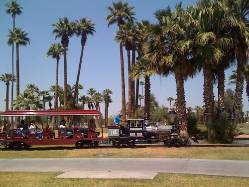 The kiddie train passes by at Encanto Park