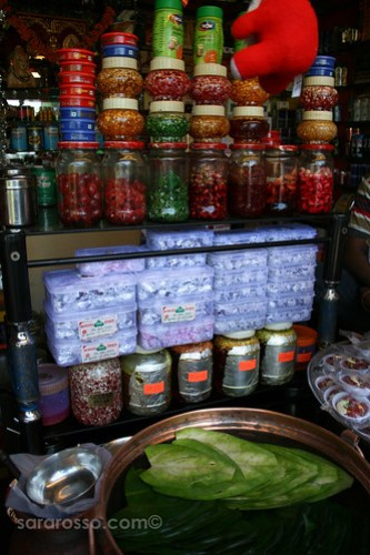 Fresh paan stand in India