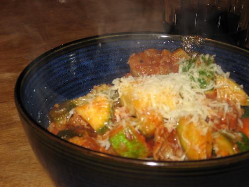 sausage & zucchini
