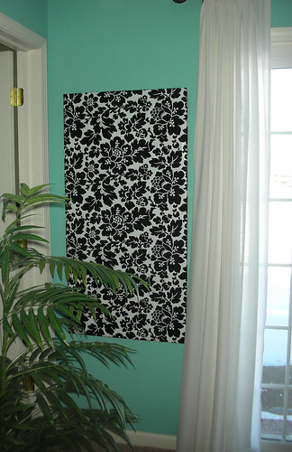 Damask Wrapping Paper Covered on a canvas