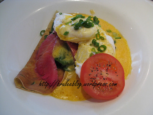 dill crepes with smoked salmon