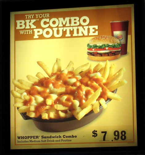 BK Combo with Poutine