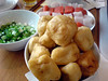 Chinese hot pot - fried tofu puffs