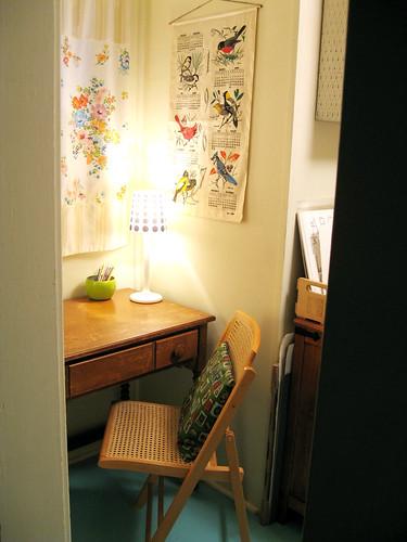 Craft room entrance (left).