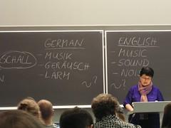 Sabine Breitsameter's Keynote - Geräusch/sound?