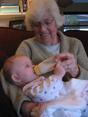 Photo of my Mom feeding Claire