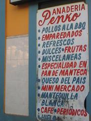 A menu in Cabo Rojo