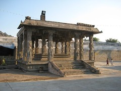 Beautifully carved Mandapam