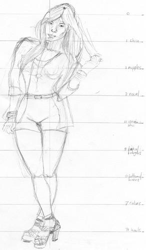 Clothed figure sketch 2 (2011/06/06)