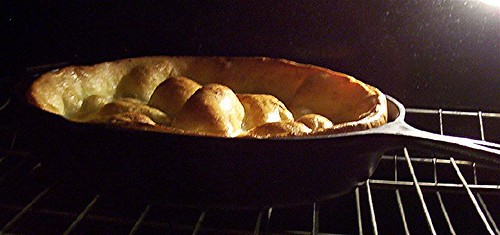 yorkshire pudding in the oven