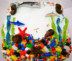 The Girl's 1st Birthday Cake - Top