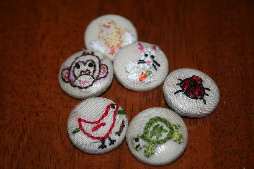 Embroidered Animal Button Swap