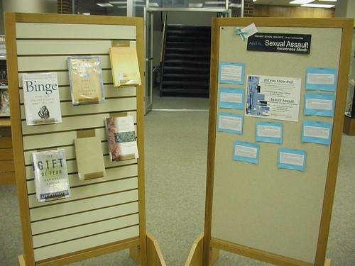Sexual Assault Awareness Month display