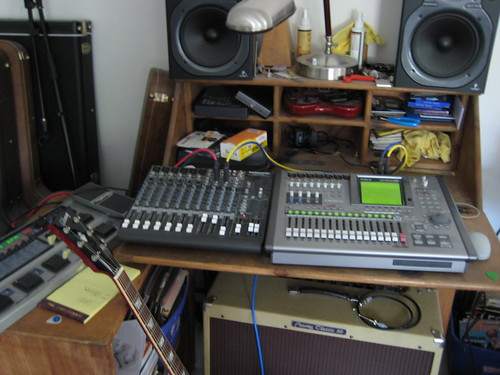 closeup of the studio