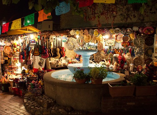 Olvera St. on a warm October night in LA.