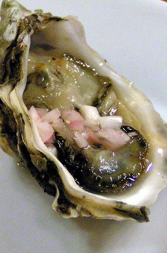 raw oyster with mignonette