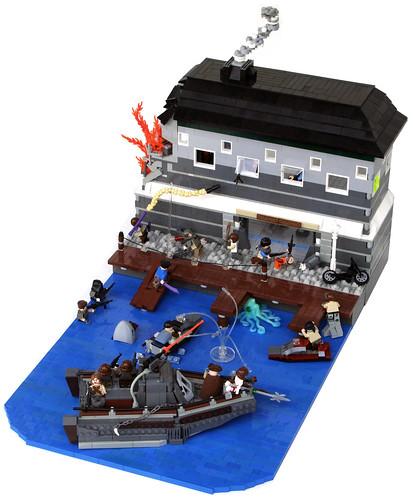 LEGO post-apoc dock
