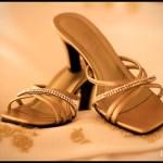 elegant brown bridal shoes