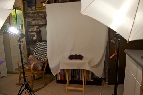 Bead room as photo studio