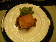 Sloppy Joe and Green Beans