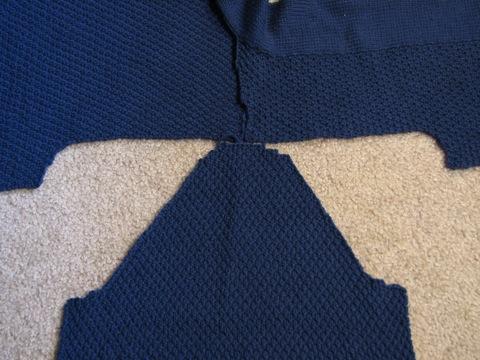 Minimalist Cardi sleeve fitting