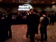 The SEO crowd enjoying SMX Bash.
