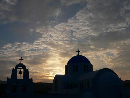Εκκλησία κατά τη δύση του ηλίου