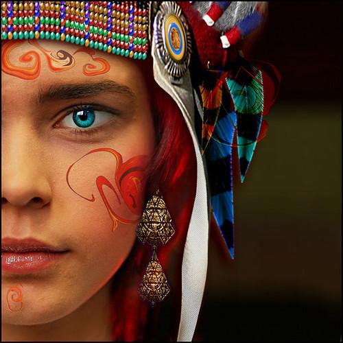 rostro de colores