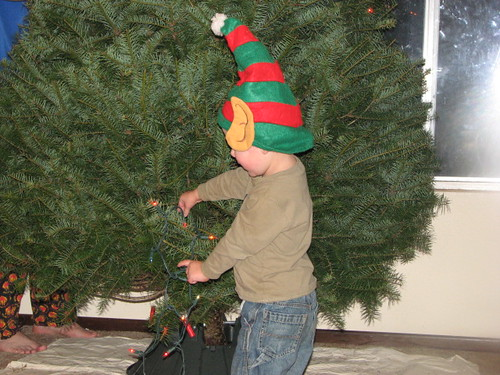 Jacob has to help with the lights