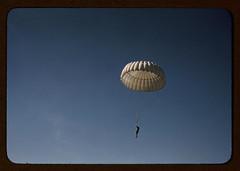 Marine parachuting at Parris Island, S.C. (LOC)