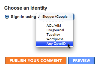 Blogger supports OpeniD!