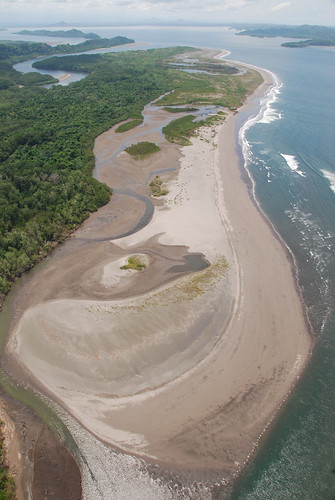 Costas con manglares en el Golfo de Chiriqui, Rep. de Panamá