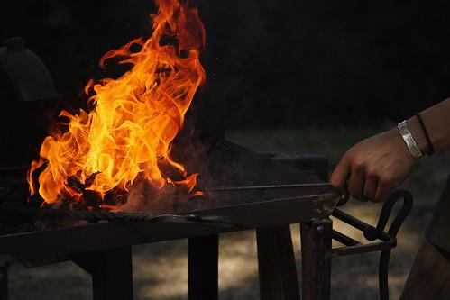 En el fuego al rojo